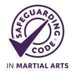 Safeguarding code in martial arts logo