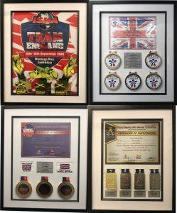 Master Wayne SESMA European & World Champion karate medals