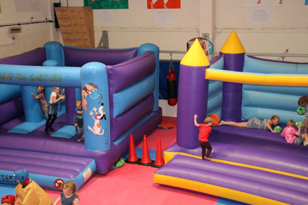 2 bouncy castles