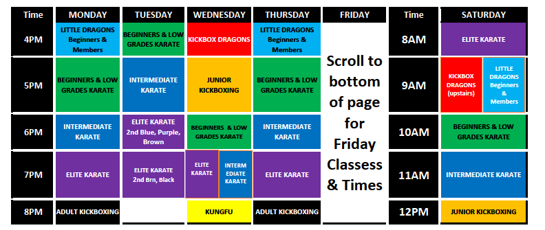 sesma martial arts and self defence norwich timetable